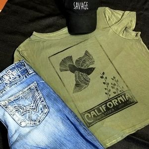 AEO Soft & Sexy Green California Sparrow T…